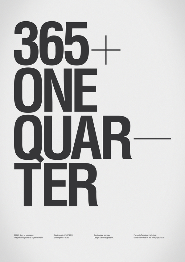 365+One Quarter / Ryan Atkinson