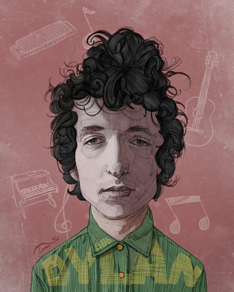 Bob Dylan Poster / Stavros Damos