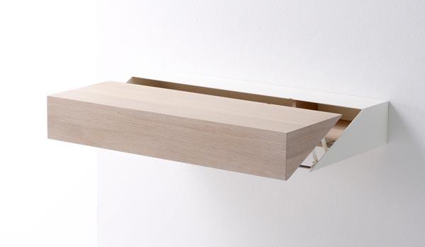 design d'objet, meuble design, bureau design, bureau escamotable