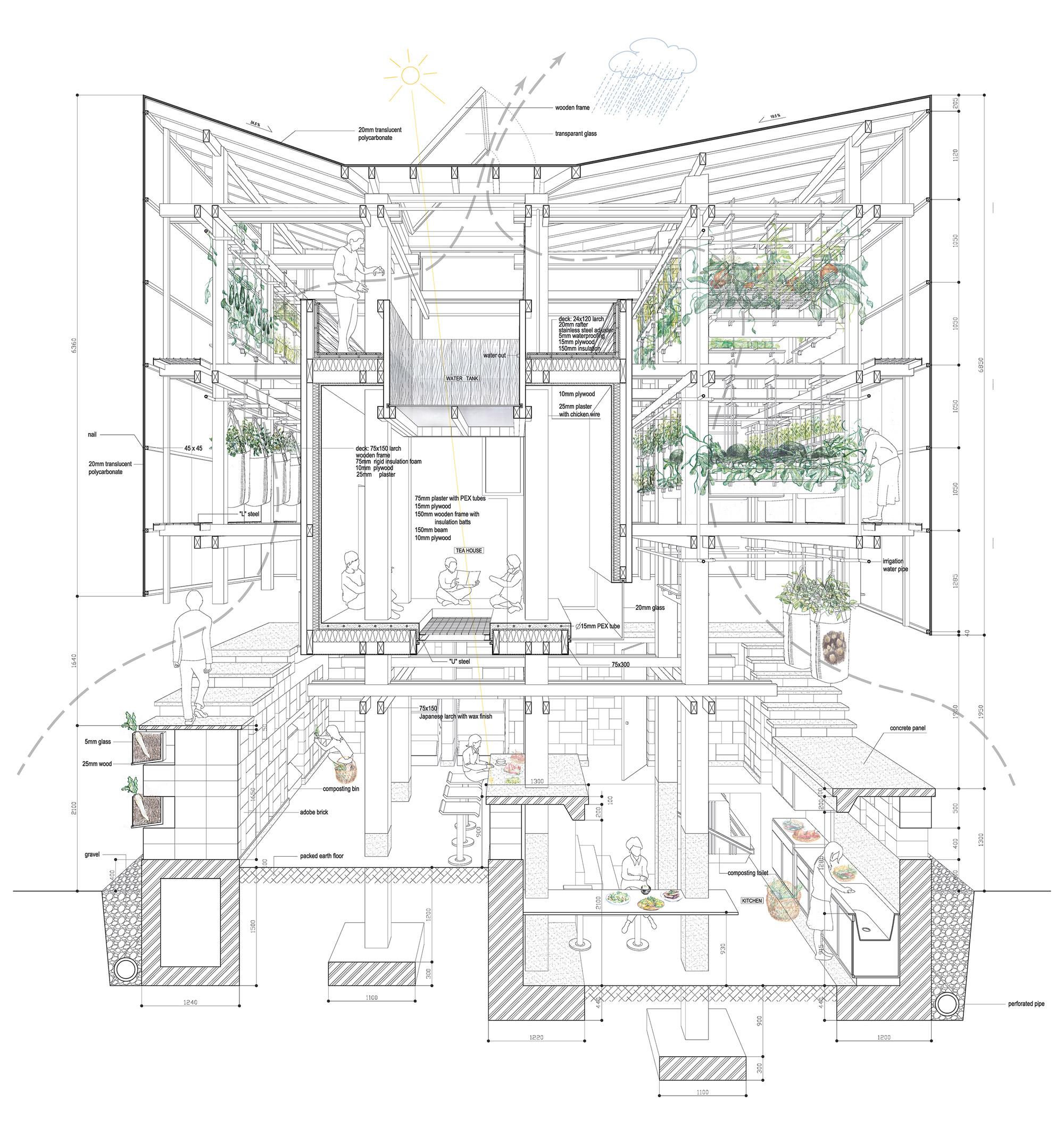 Nest We Grow / College of Environmental Design & Kengo Kuma & Associates (17)
