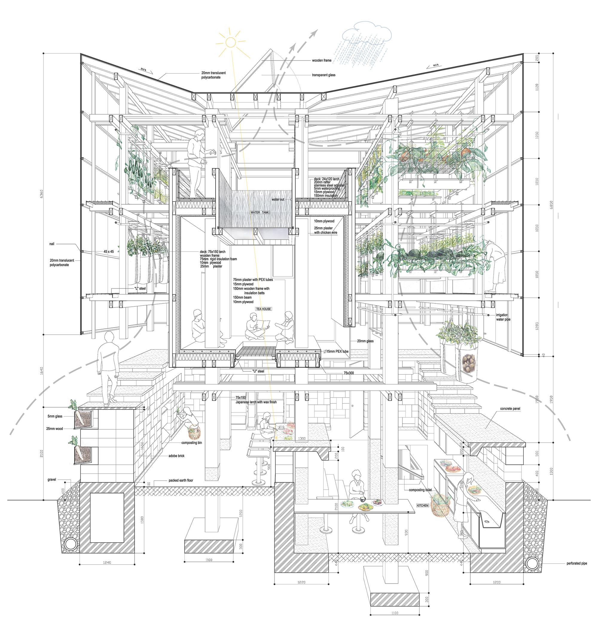 Nest We Grow / College of Environmental Design & Kengo Kuma & Associates (16)