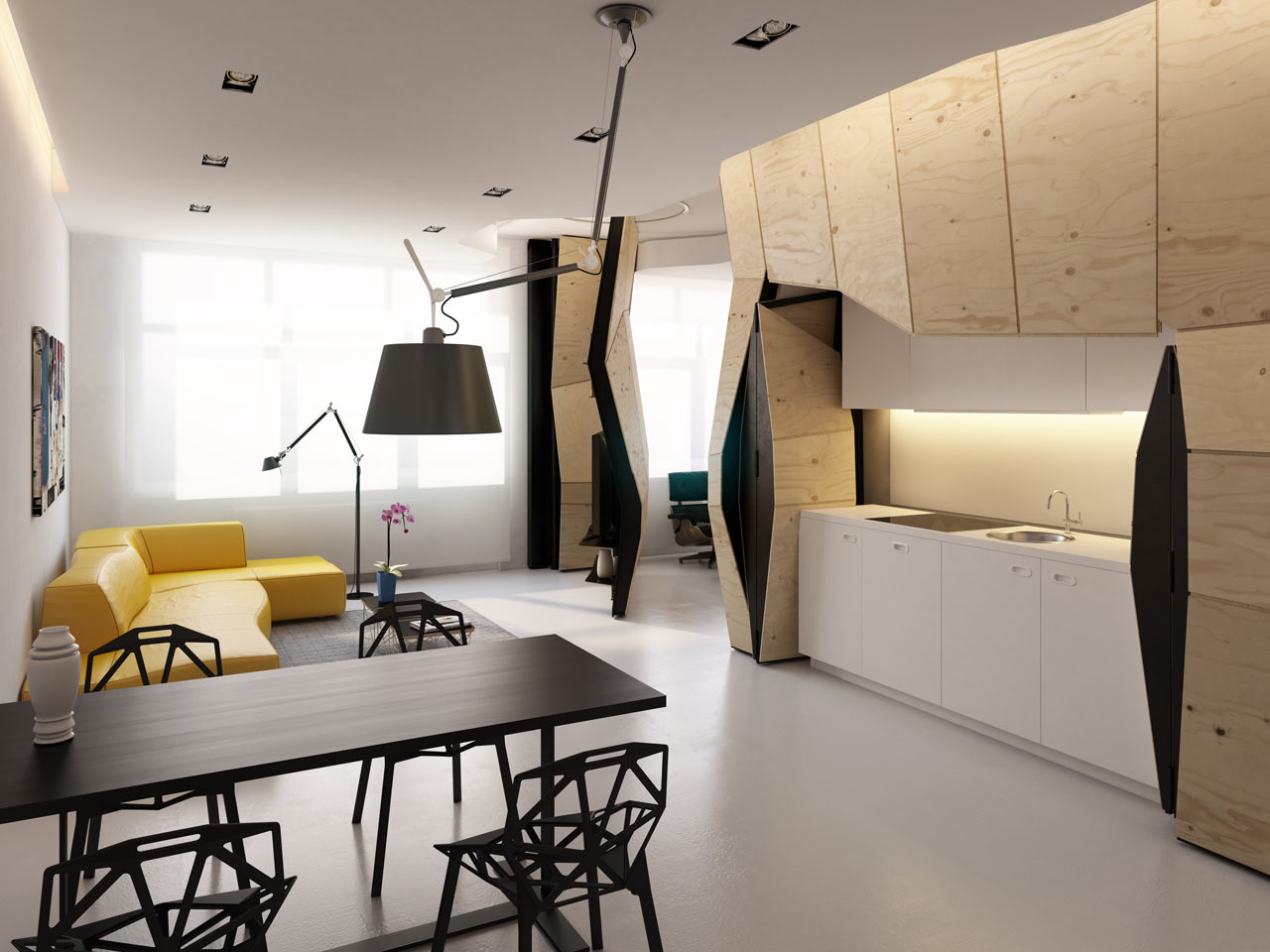 Transformer Apartment / Vlad Mishin (6)