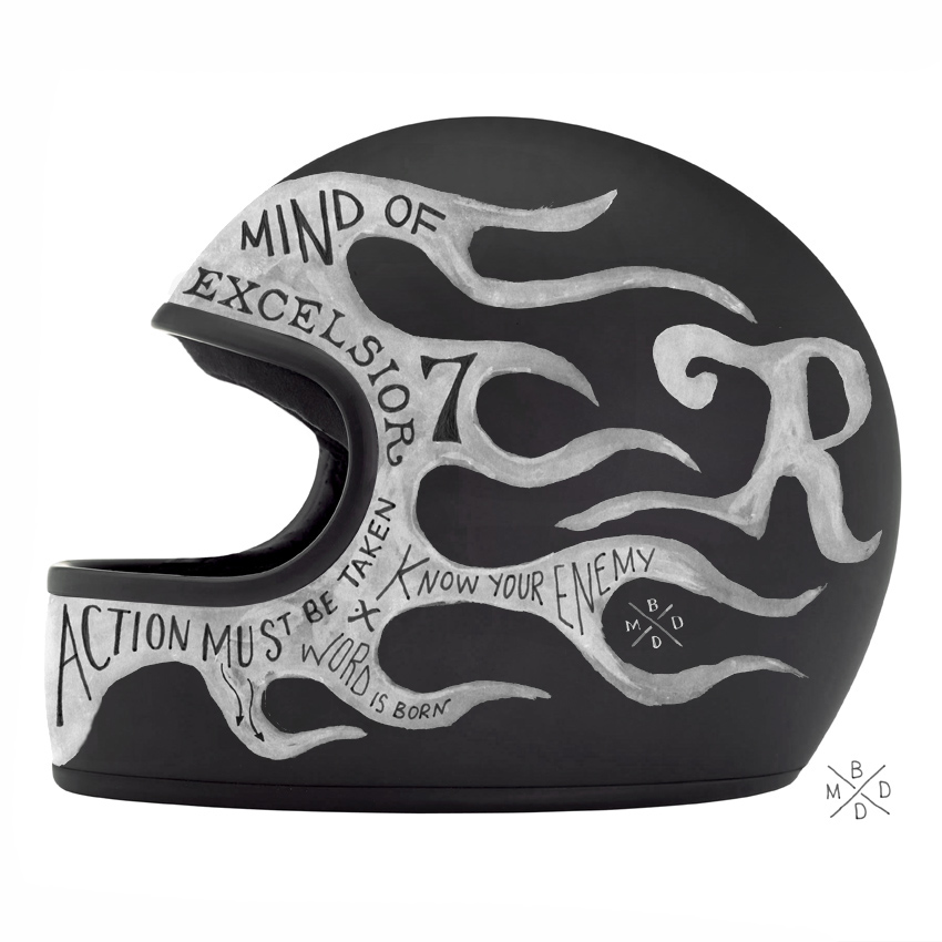 design graphique Helmets private collection Bmd Design