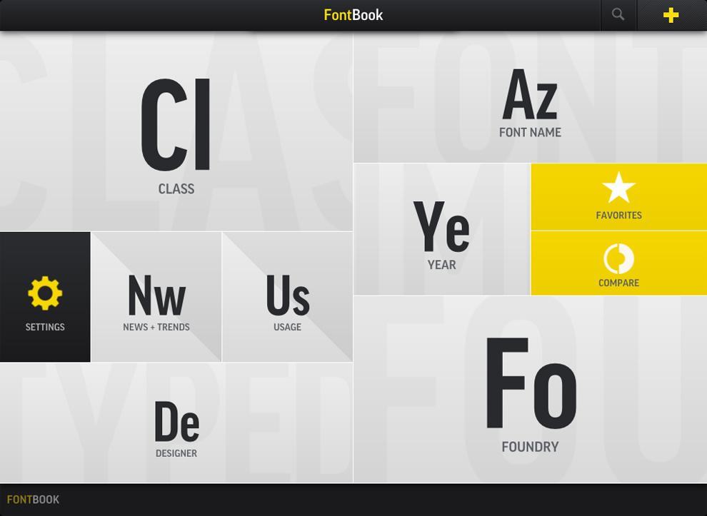 FontBook / FontShop
