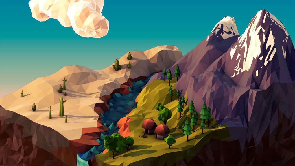 Geometric Landscape / JR Schmidt