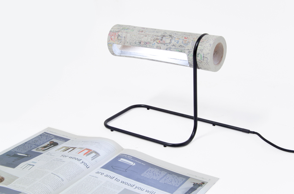 Design d'objet papier recyclé