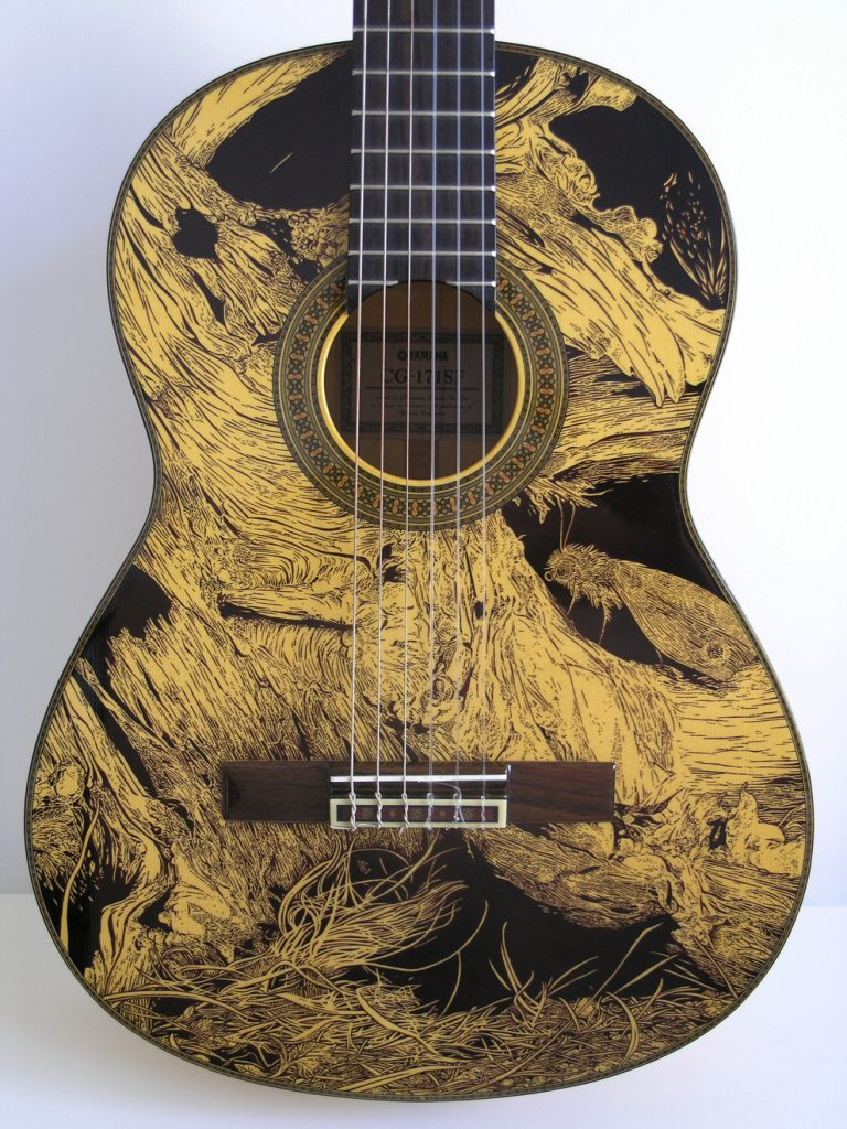 Drawings On Guitars / Patrick Fisher