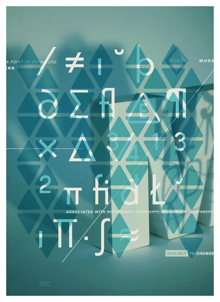 Poster Typographique / Tom Davie