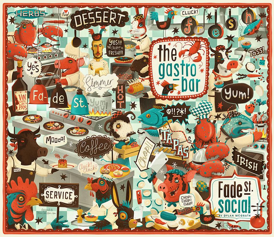 design graphique steve simpson illustration