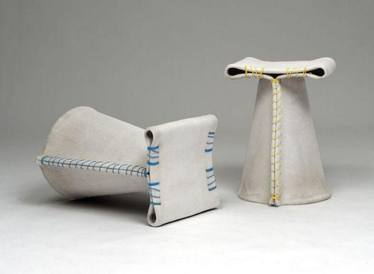 Tabouret Stitching Concrete / Florian Schmid